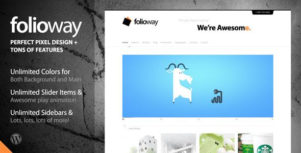 ThemeForest Folioway Premium Portfolio WordPress Theme 234219