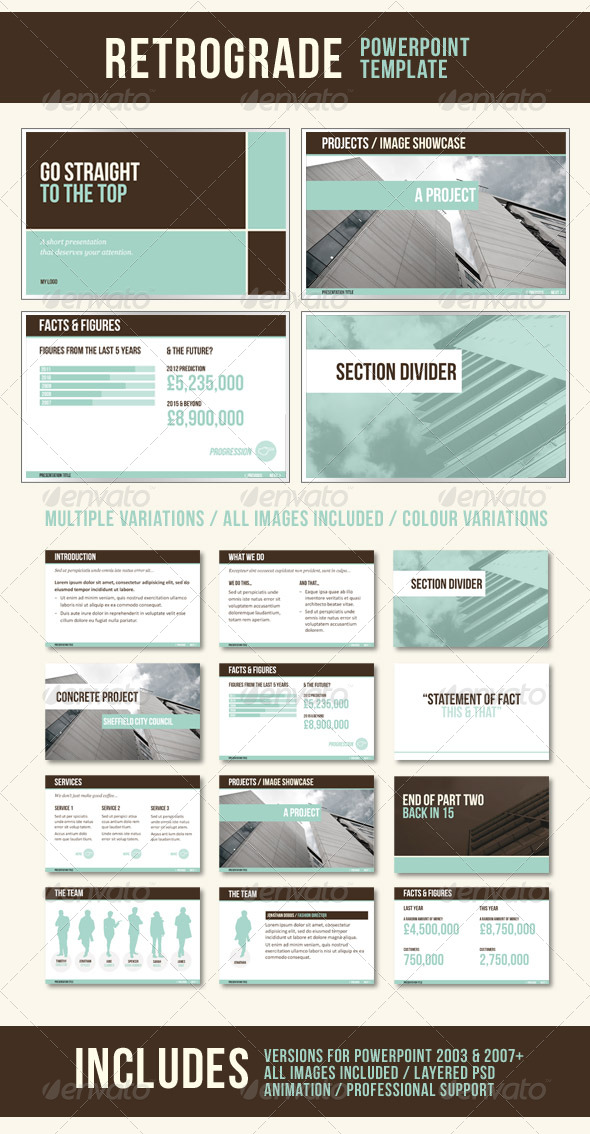 GraphicRiver RetroGrade PowerPoint Template 235144
