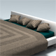Simple Bad With Mattress, Pillows & Blanket - 3DOcean Item for Sale