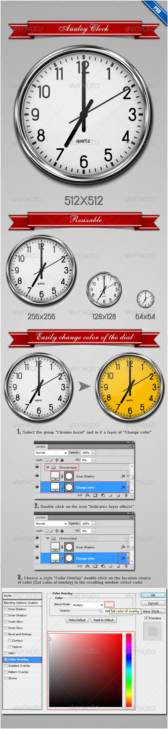 GraphicRiver Analog Clock 235169