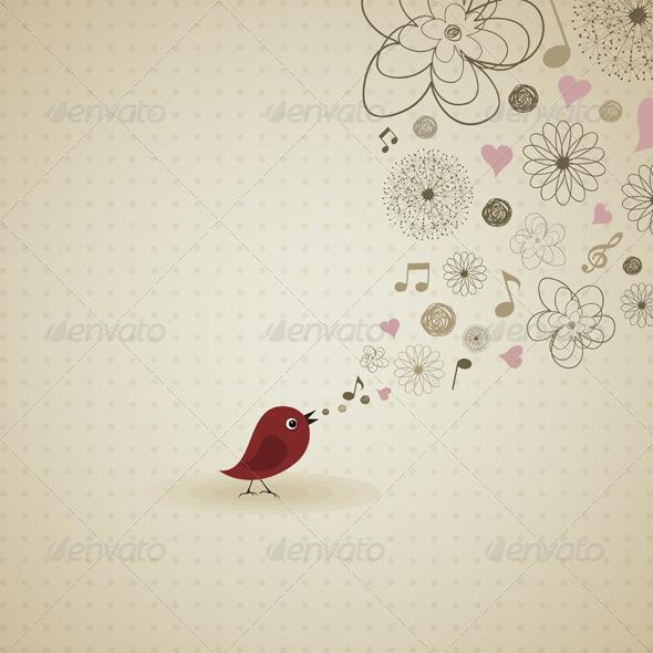 GraphicRiver Birdie sings 2024197