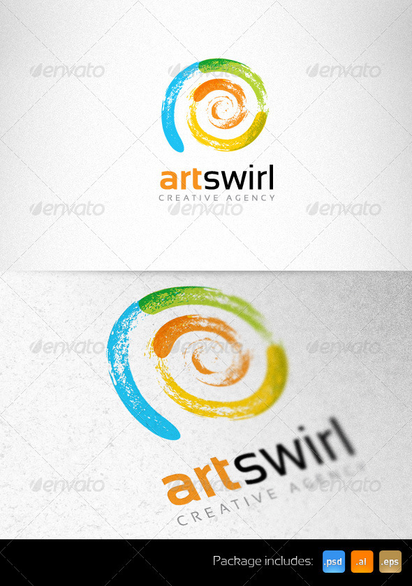 Art Swirl Creative Logo Template - Vector Abstract
