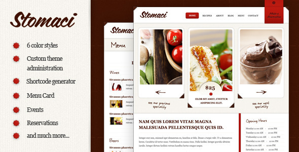 ThemeForest Stomaci Restaurant & Cafe WordPress Theme 2024485
