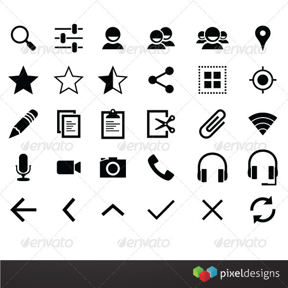 30 Smart Phone Framework Icons - Software Icons