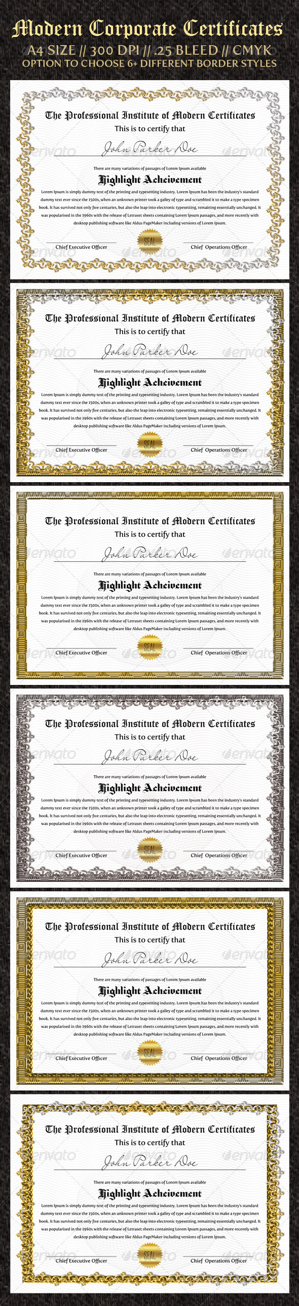 Best quality and popular certificate print design templates download corporate certificates print design template xflitez Image collections