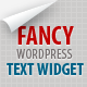 Fancy Text Widget