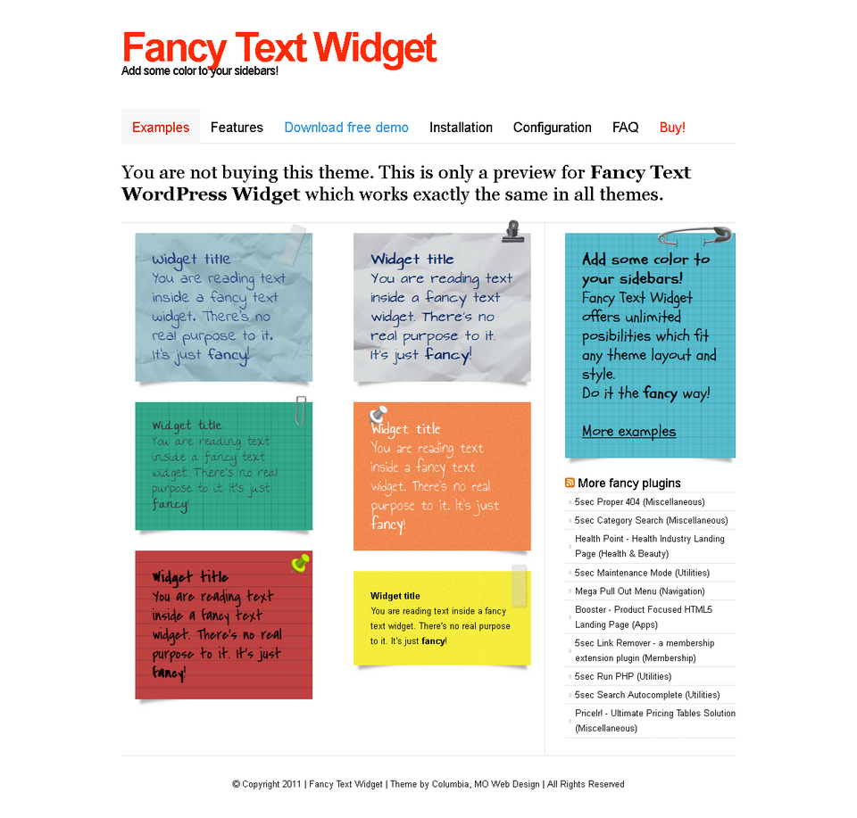 Fancy Text Widget By Webfactory Codecanyon