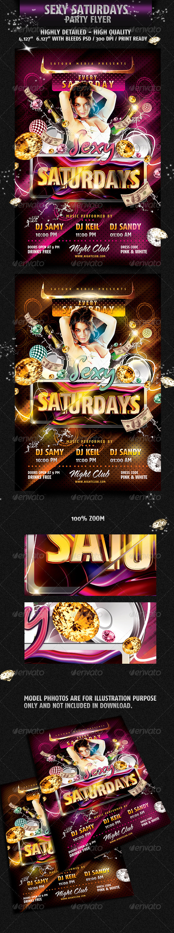 Sexy Saturday Dance Party Flyer