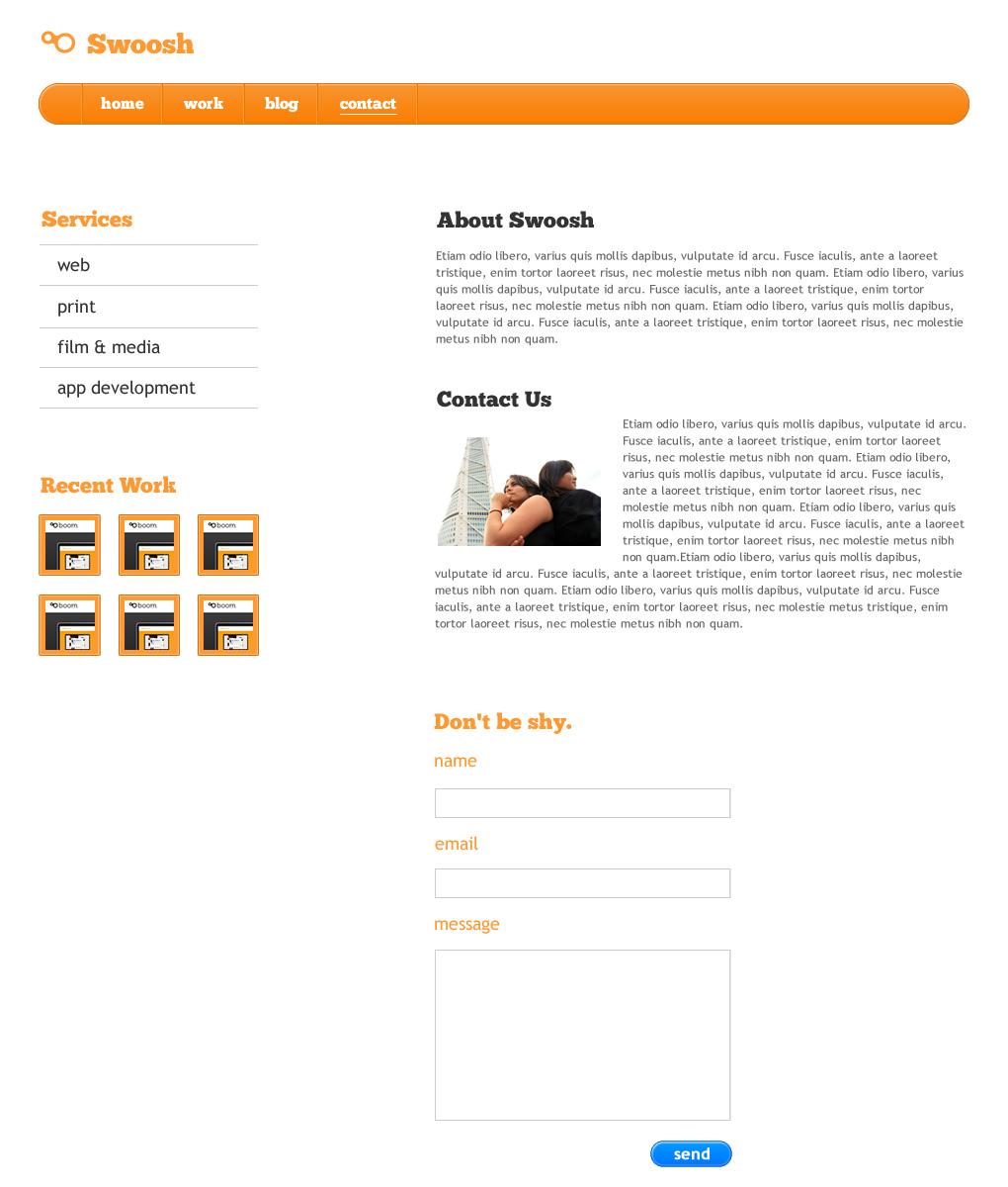 Swoosh - Professional HTML Theme