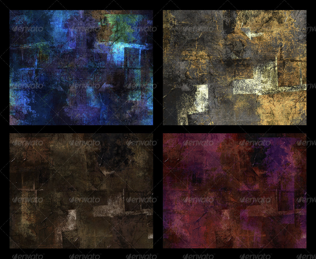 Grunge Art; 6 Abstract Variations on a Painting