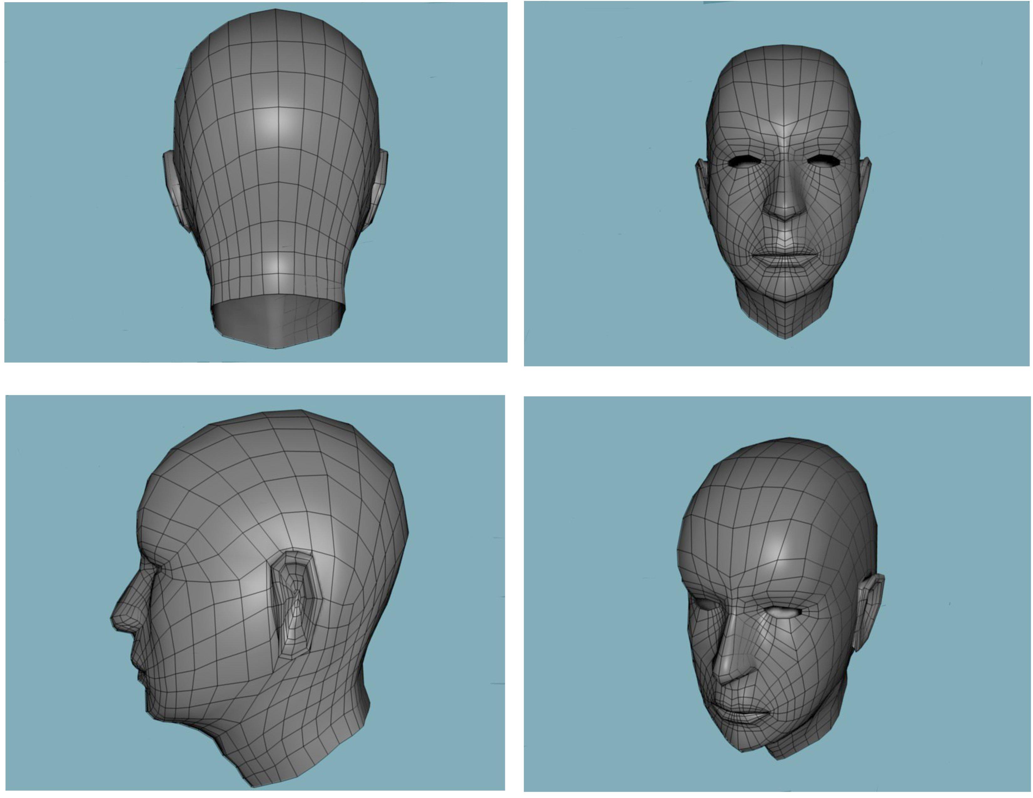 3DOcean Human Head 232902