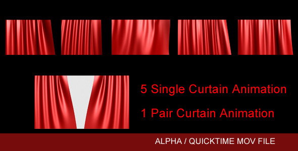 VideoHive 6 Curtain Animation Pack 1921007