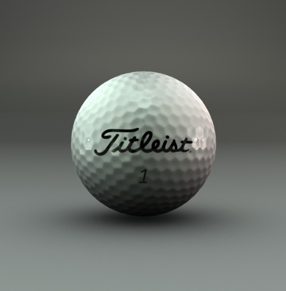 Golf Ball - 3DOcean Item for Sale