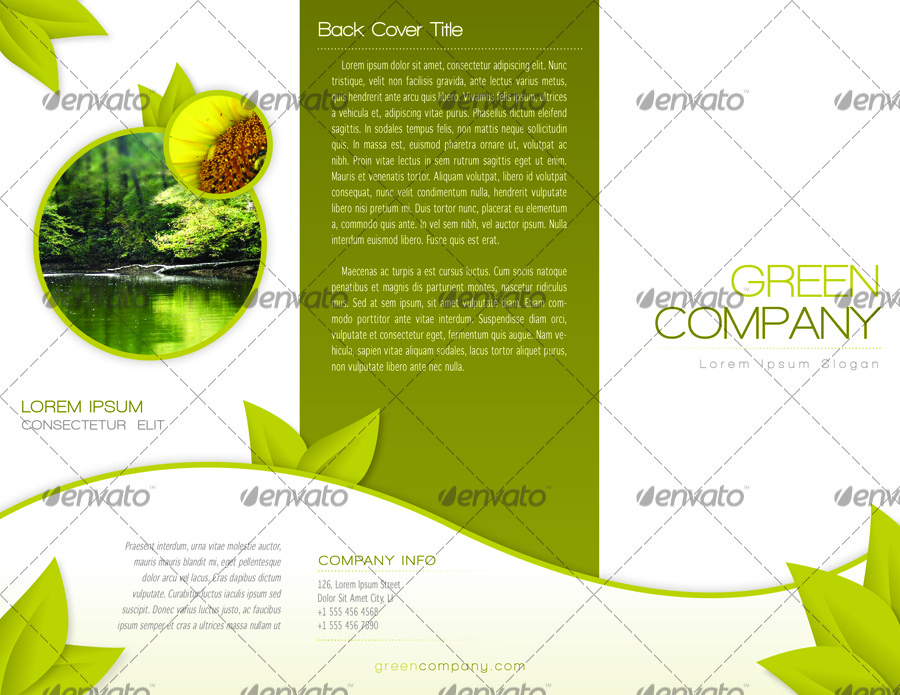 Green trifold brochure indesign template by alvarocker for 8 5 x 11 brochure template indesign