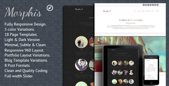 Morphis - Responsive HTML Template - Home Page