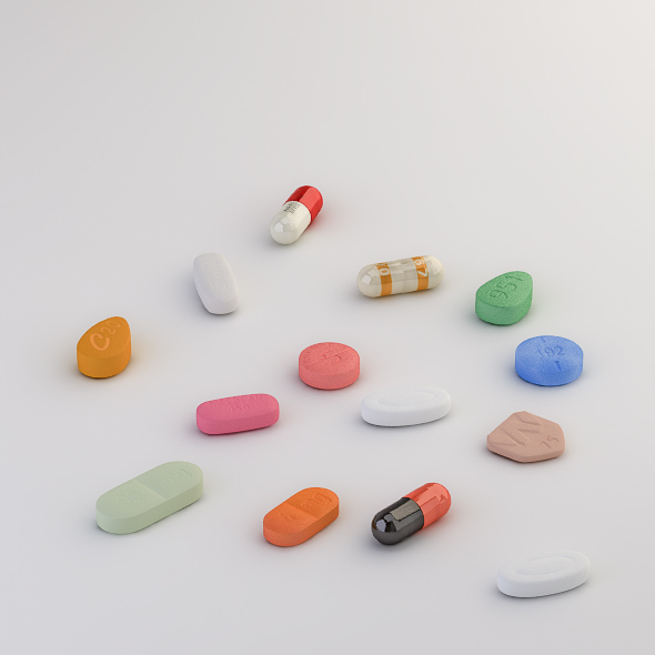 Pills Collection C-E - 3DOcean Item for Sale