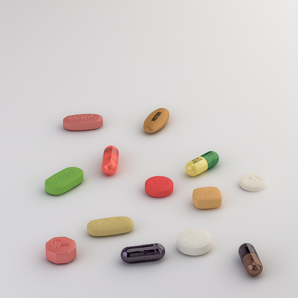 3DOcean Pills Collection M-P 235376