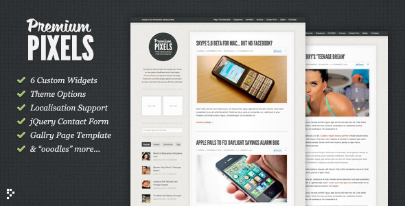 Premium Pixels: Fancy Pants Blog / Magazine Theme - ThemeForest Item for Sale