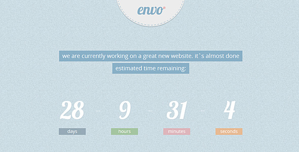 Envo - Coming Soon Template