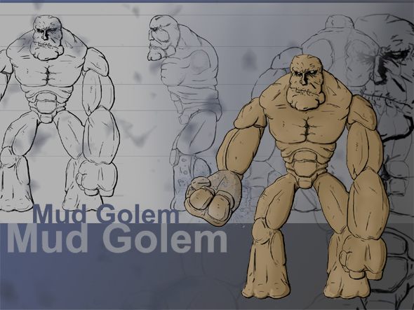 Mud Golem Concept - 3DOcean Item for Sale