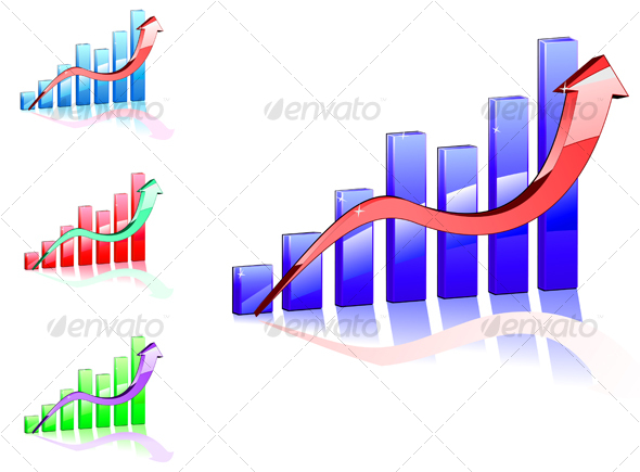 Graphic River Color graph for business concept Vectors -  Conceptual  Business 77359