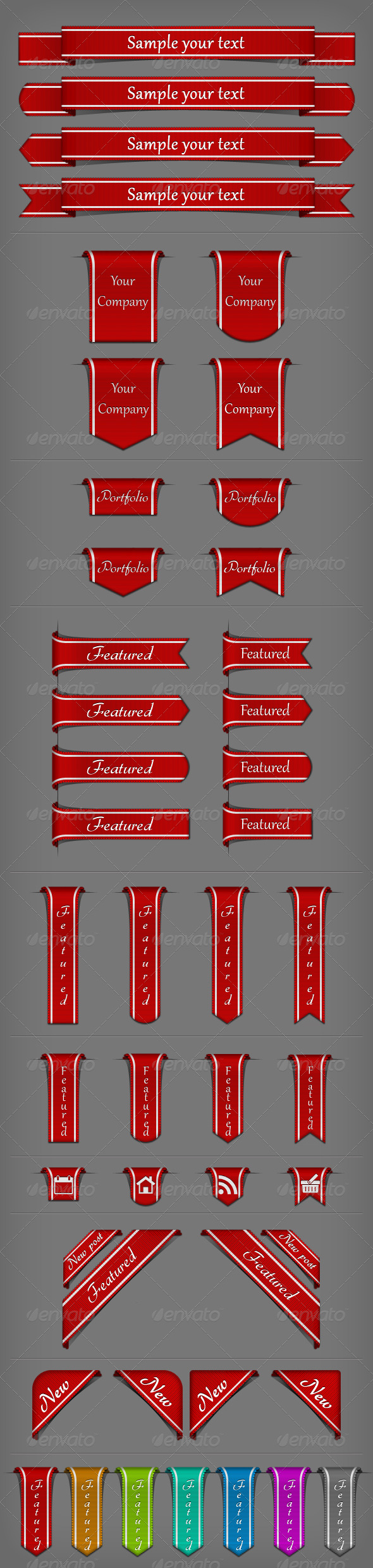 GraphicRiver Web Ribbons 235806