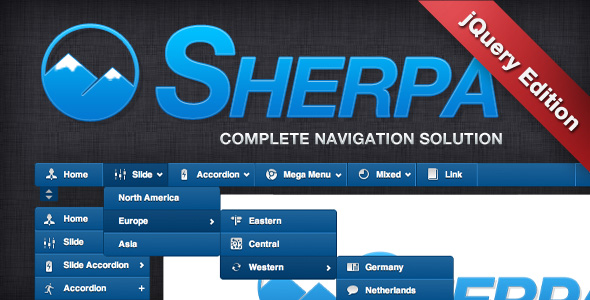 CodeCanyon Sherpa Complete Navigation System 224492