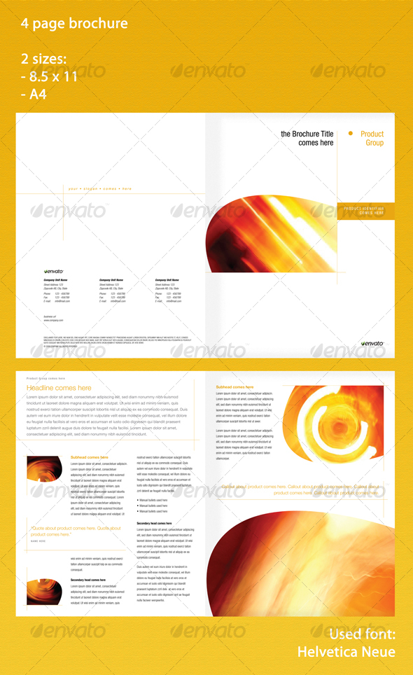GraphicRiver 4 page brochure in 2 sizes 71854
