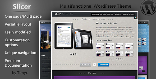 Slicer - One / Multi Page Business template