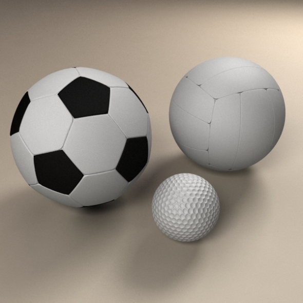 Sport Ball Bundle - 3DOcean Item for Sale