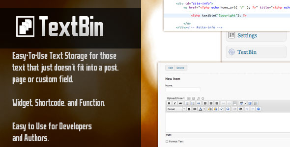 CodeCanyon TextBin 235907