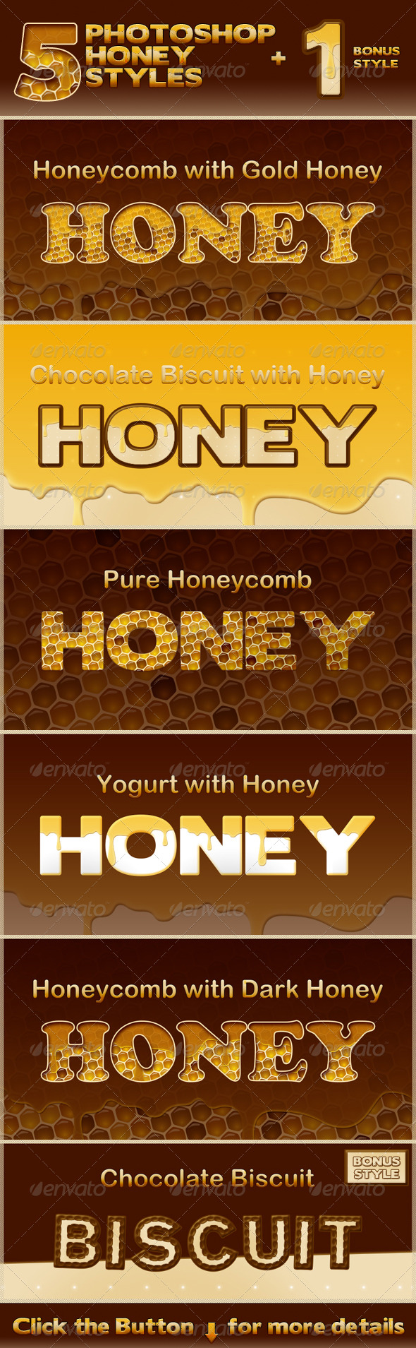Honey Photoshop Styles - Text Effects Styles