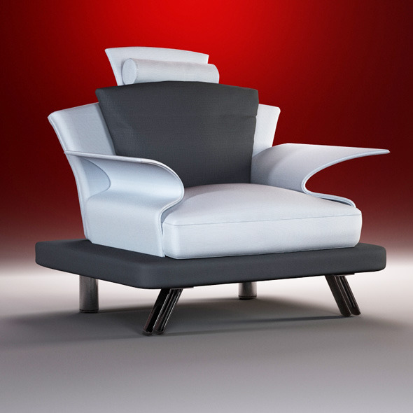 Quality 3dmodel of modern chair Super Roy IL Loft