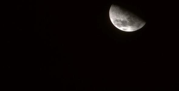 First Quarter Moon Face