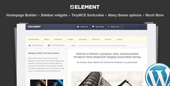 Element wordpress theme download