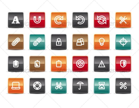 Glossy Internet Icons Set 5