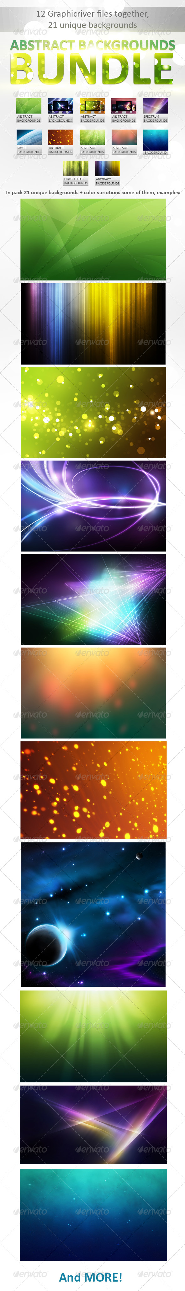 Abstract Backgrounds Bundle - Backgrounds Graphics