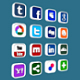 Social and Media Icon Set