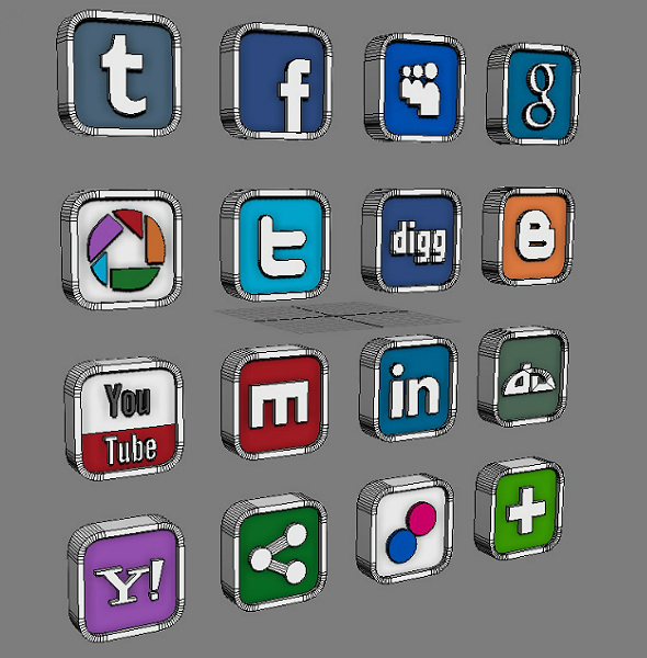 3DOcean Social and Media Icon Set 2023426
