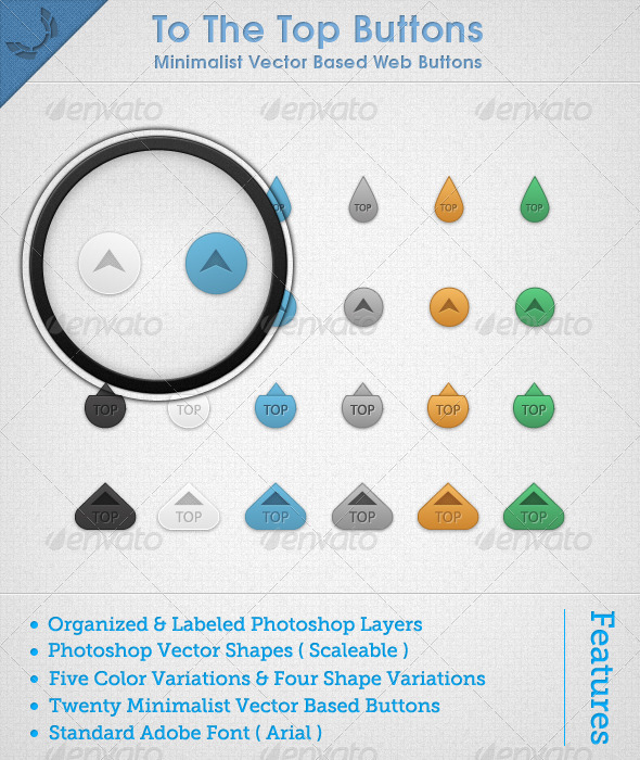 GraphicRiver To The Top Buttons 673221
