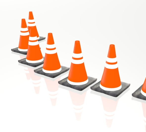 Rubber Traffic Cone - 3DOcean Item for Sale