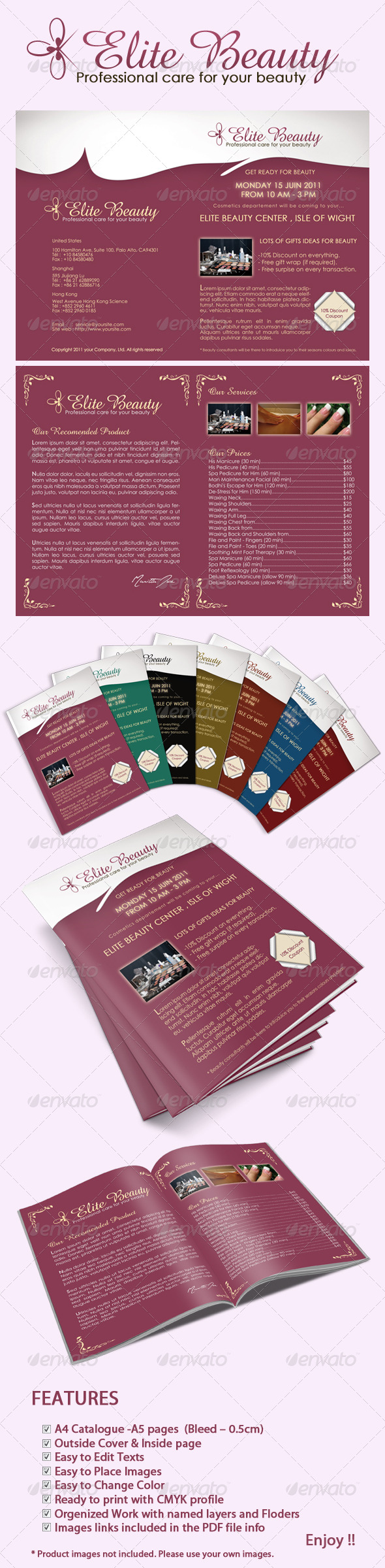 GraphicRiver Elite Beauty catalog 236276