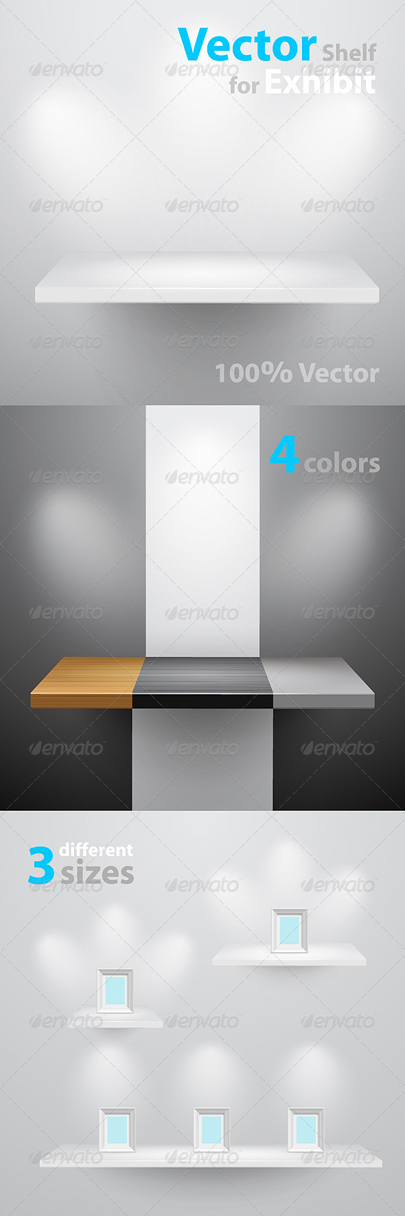 GraphicRiver Vector shelf for exhibition 236313
