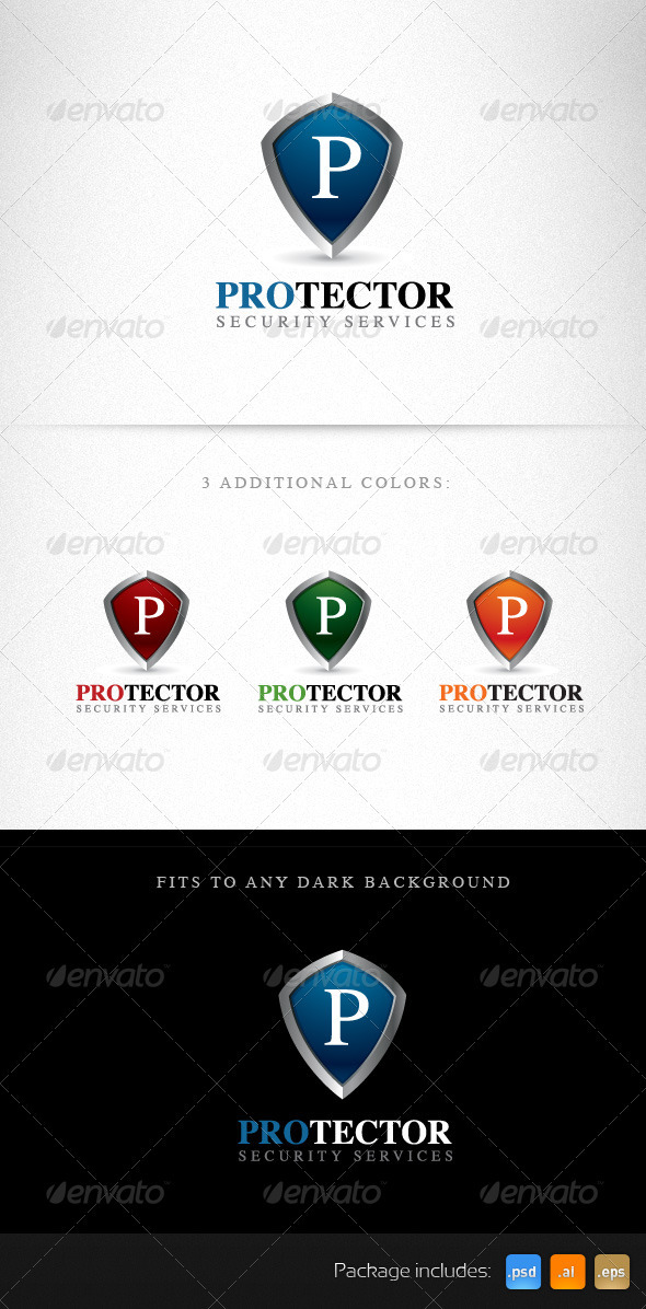 Protector Shield Creative Logo Template - Objects Logo Templates