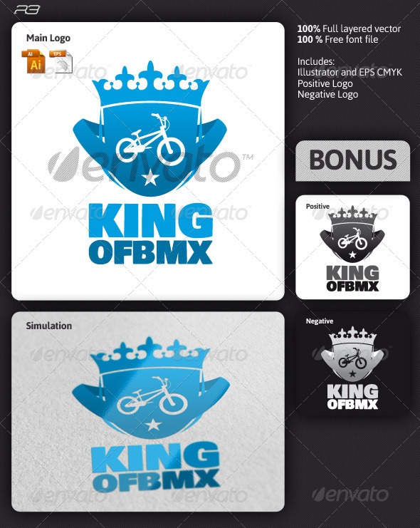 King of Bmx Logo