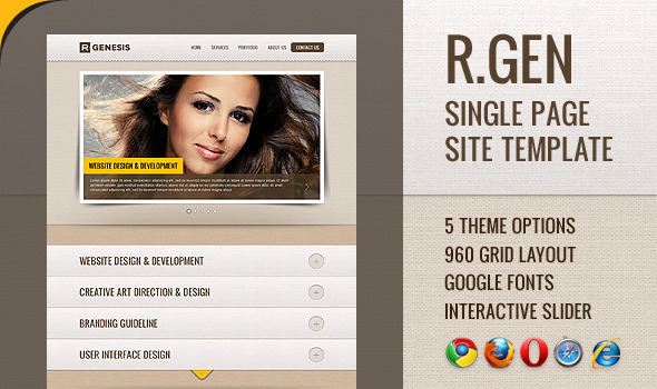 ThemeForest R.Gen Single Page Site Template 2035475