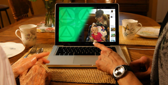 After Effects Project - VideoHive Grandma Visit Laptop ScreenDub 2035525
