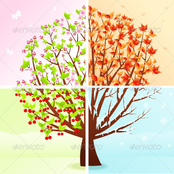 Four season graphicriver for Les jardins 4 saisons