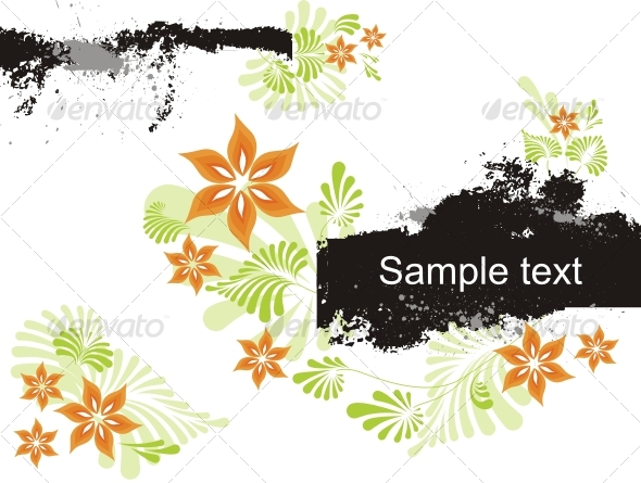 Abstract floral background. - Backgrounds Decorative