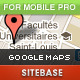 Google Maps for Mobile Site PRO